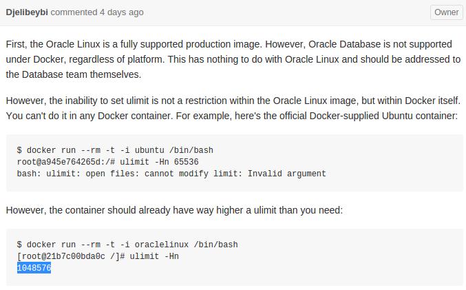 Keep it simple - HWK's blog: Tricky: docker, oraclelinux, ubuntu and