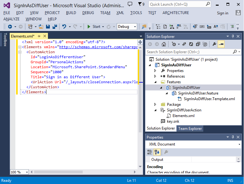 sign in with different user sharepoint 2013