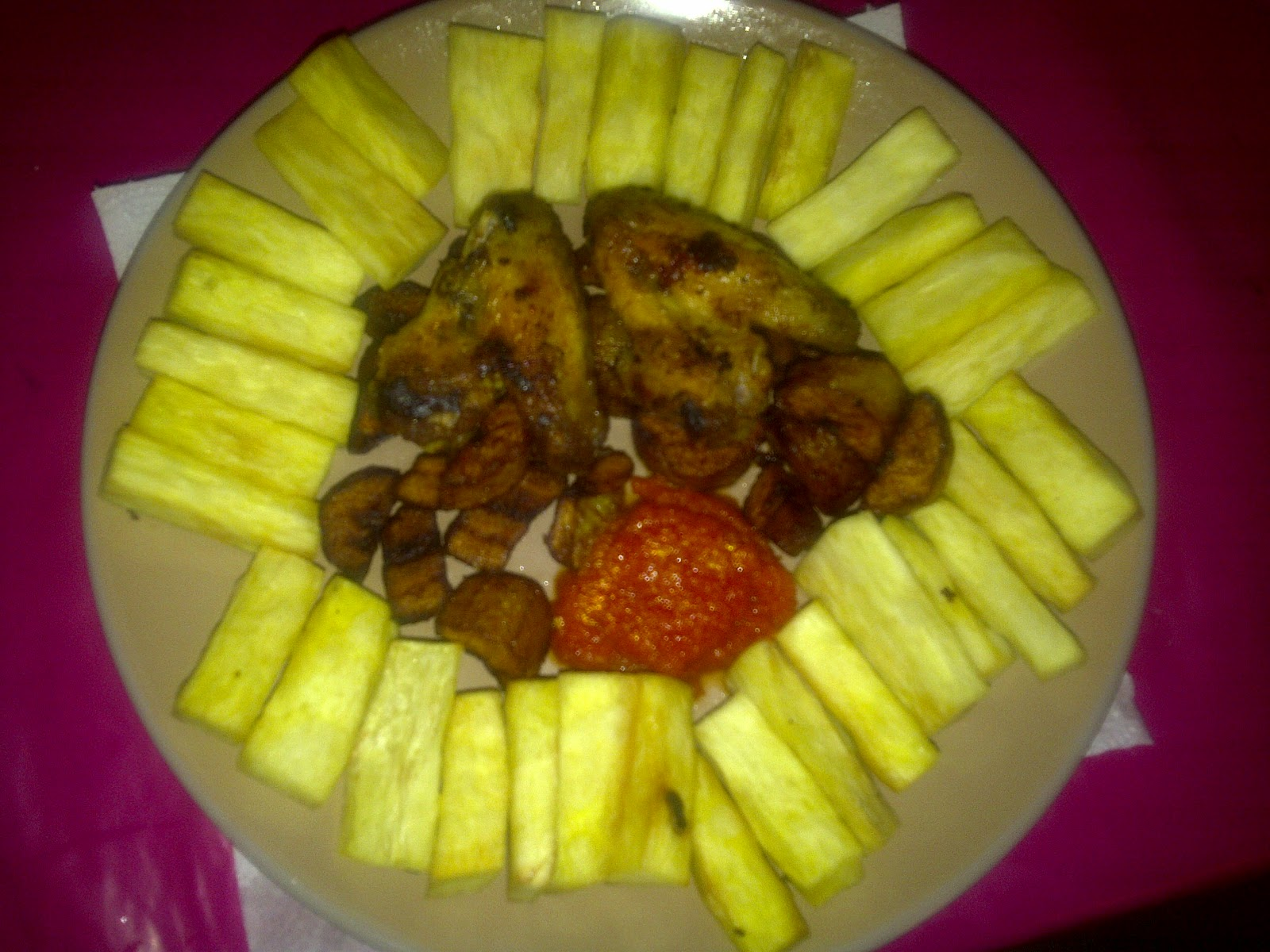 Exploring New Hobbies!: Fried Yam Chips And Plantain With