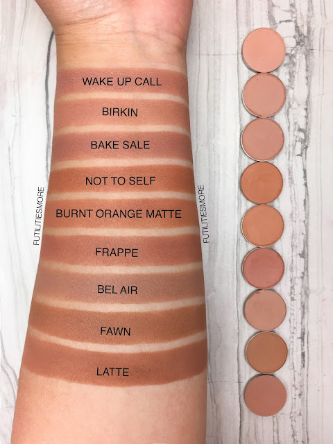 TRANSITION SHADES: Colourpop VS Anastasia Beverly Hills VS makeup geek, futilitiesmore, futilitiesandmore, futilities and more, makeup swatches