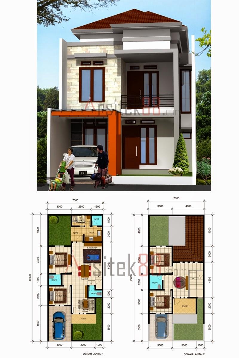 Desain Rumah Minimalis 2 Lantai Ukuran 7 X 15 Desain Rumah Minimalis
