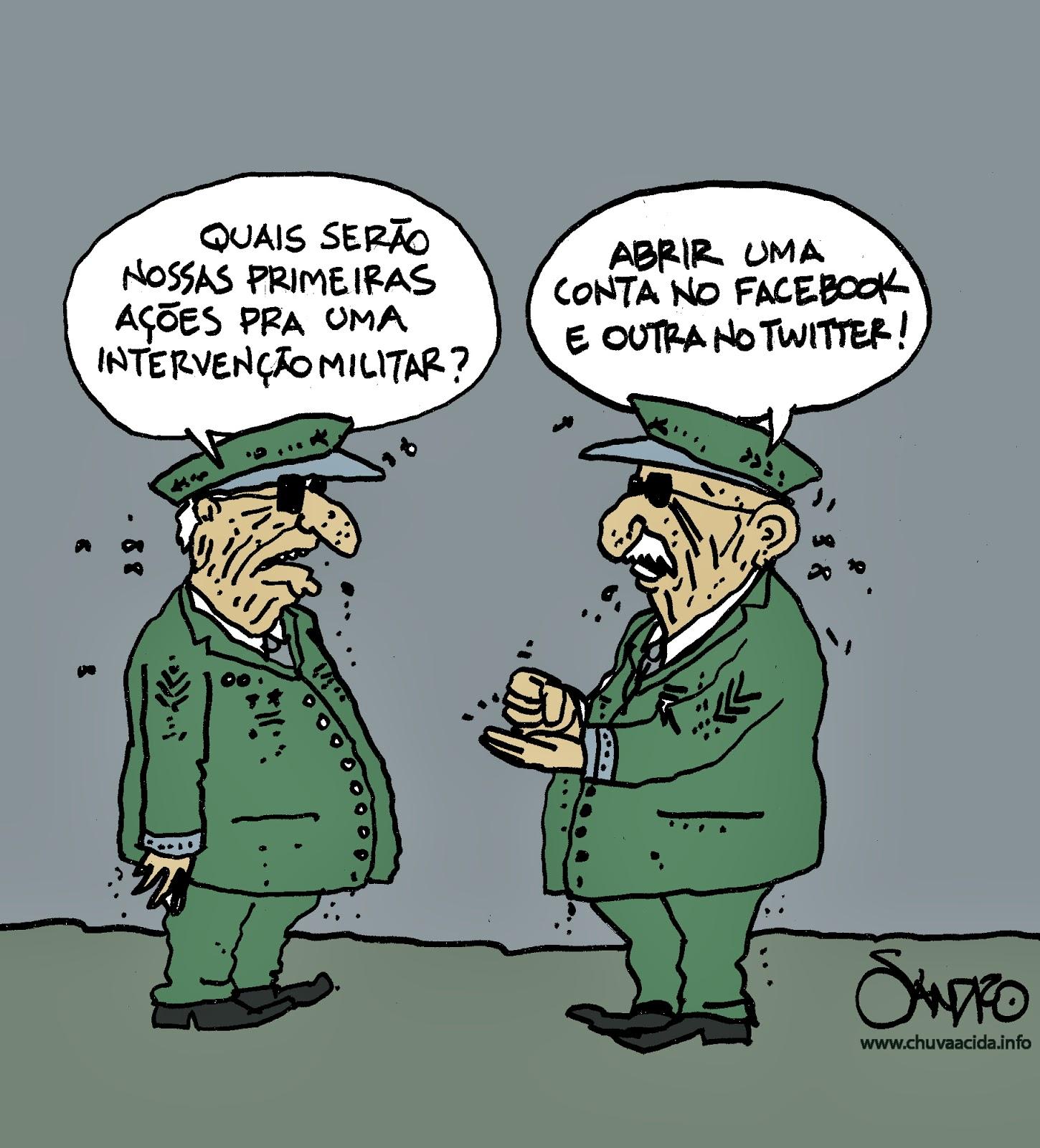 Resultado de imagem para volta da ditadura charges