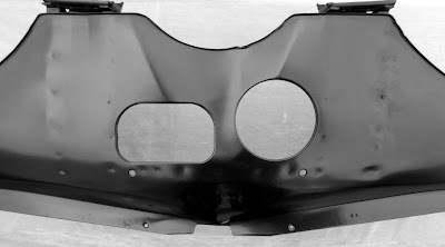 Image of a restored Opel Manta A series sump guard