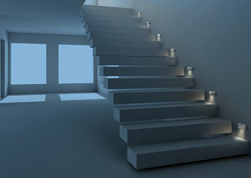 Sidesign debuta con la colecci n quadrat de giuseppe for Segnapasso led per scale interne