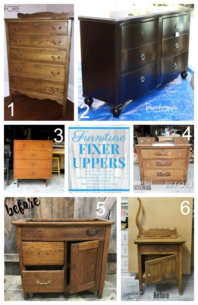July Furniture Fixer Upper Pieces Before Makeovers