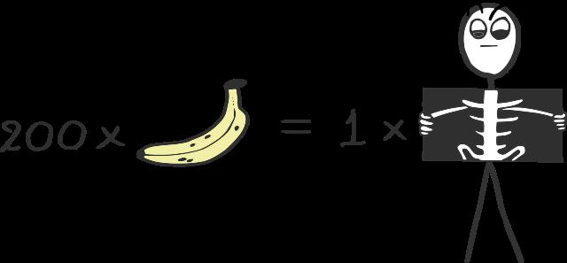 200 μπανάνες = 1 ακτινογραφία θώρακα