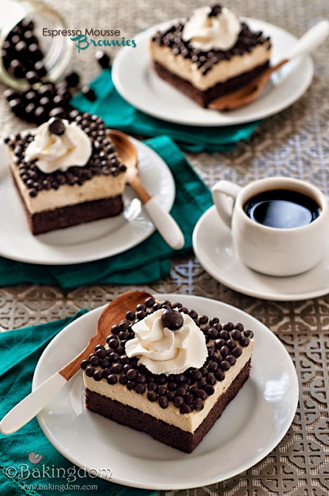 FUN RECIPE WORLD : Espresso Mousse Brownies Recipe - photo#36