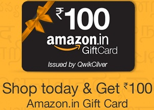 Get Amazon Gift Card worth Rs.100 on Every Purchase @ Amazon (Irrespective of Qty & Value of Order) Valid till Today