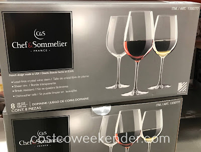 Sip and enjoy some wine in a Chef & Sommelier Crystal Wine Glass