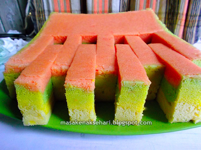 Resep Cake Kukus Pelangi Ncc: Resep Kue Bolu Kukus Pelangi Lembut