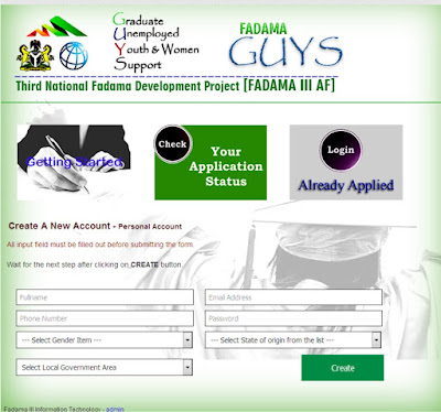 www:fadamaaf:net – FADAMA III AF Recruitment 2017/2018 Application Form | Fadama Guys.