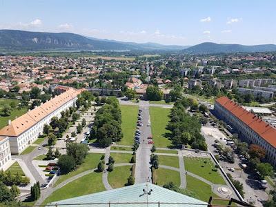 Vistas de Esztergom desde la cúpula de la Basílica