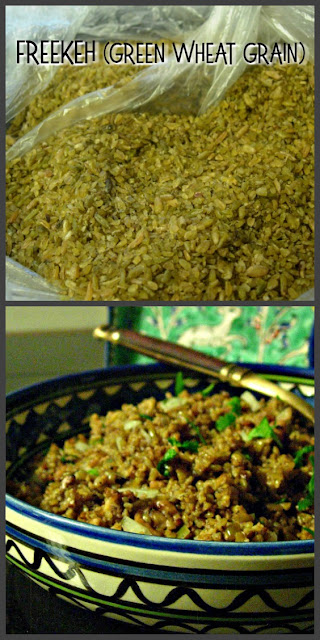 Freekeh, the green wheat of the Middle East is perfect for making pilafs! #grains #pilaf #freekeh www.thisishowicook.com