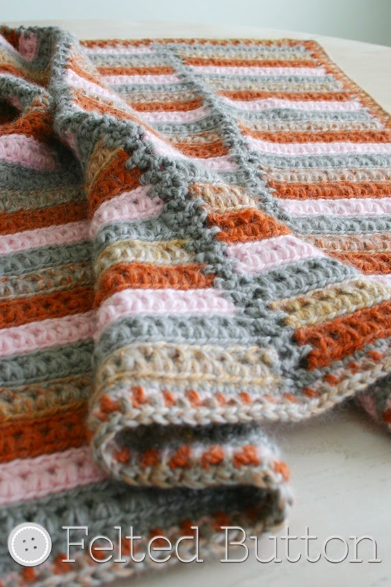 Crochet Pattern Rosslyn : Felted Button - Colorful Crochet Patterns: The Arlington ...