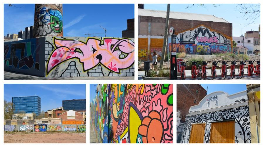 graffitis colorés de Sant Marti