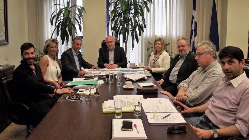 Συνάντηση Μέτιου με τον Πρόεδρο της ΕΤΑΔ για την αναβάθμιση του παραλιακού μετώπου Φαναρίου - Αρωγής