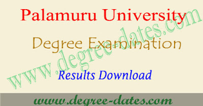 PU degree results 2018-2019 date palamuru university result