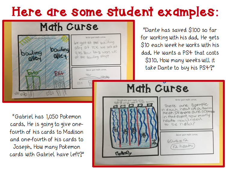 Cool Beans Ed Math Curse End of Year Project – Math Curse Worksheets