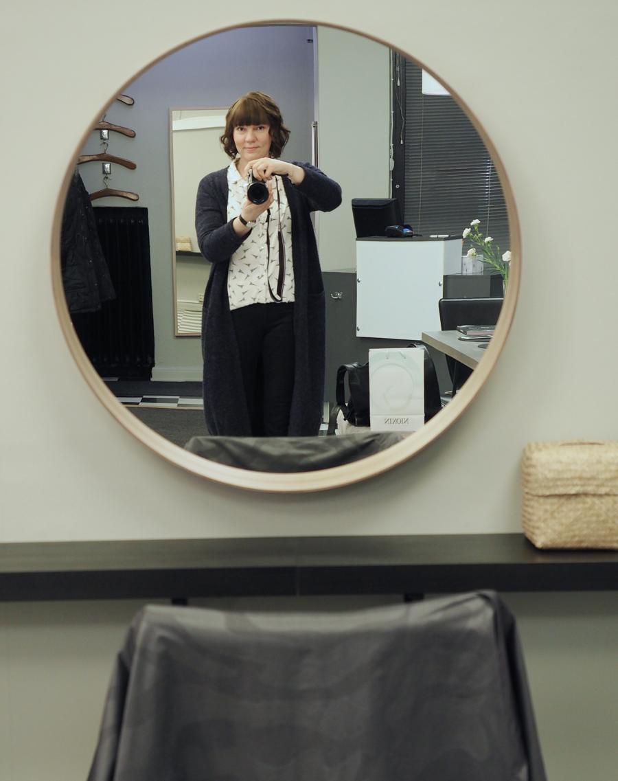 bloggaajan selfie uusi kampaus