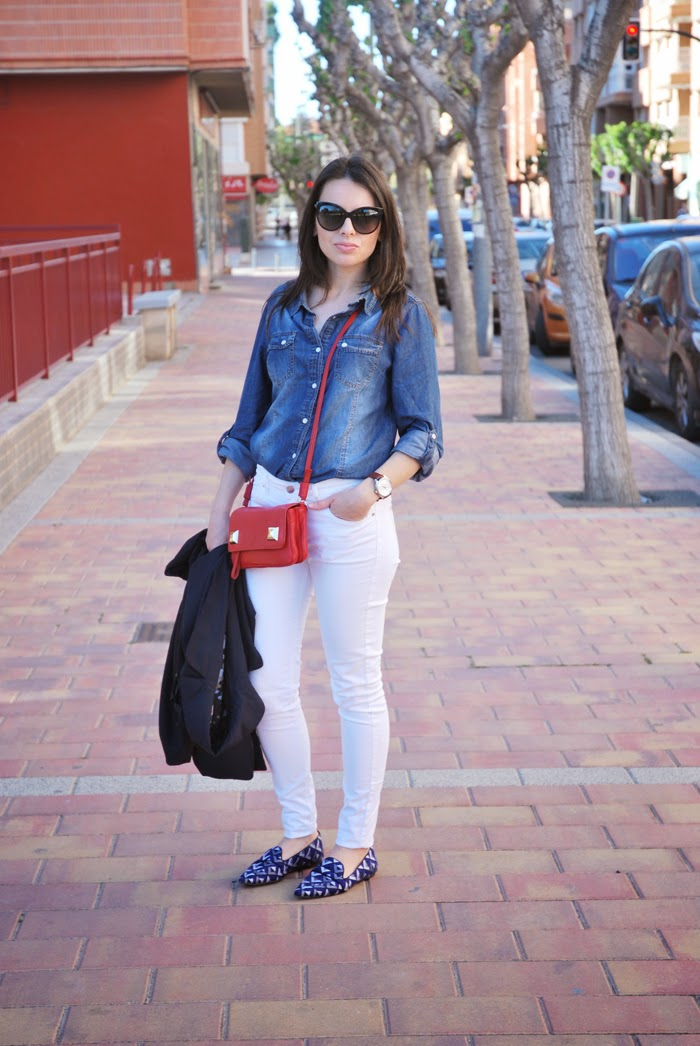 Denim and White