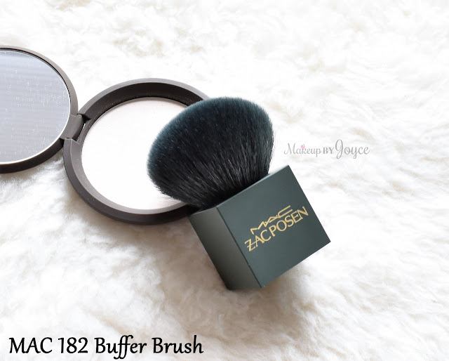 Zac Posen for MAC 182 Buffer Kabuki Brush Limited Edition Review Size Comparison