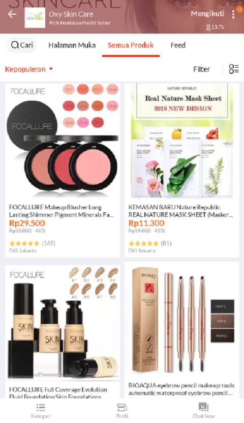 Oxy Skin Care Sebagai Toko Kosmetik Terlaris di Lazada