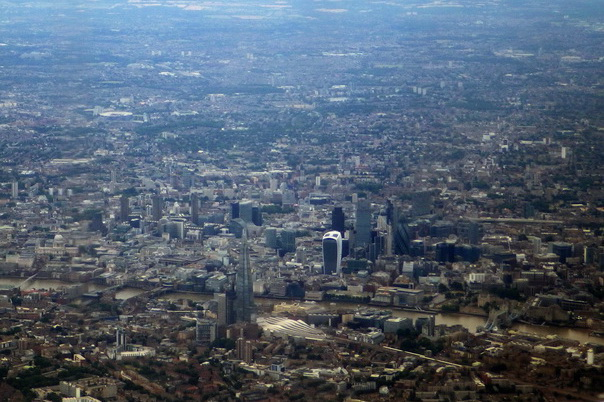 London, Flugbild, City, Innenstadt