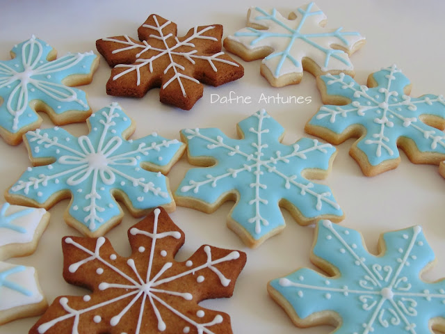 Biscoitos floco de neve