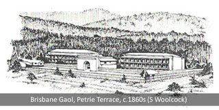 A sketch of the prison on Petrie Terrace.