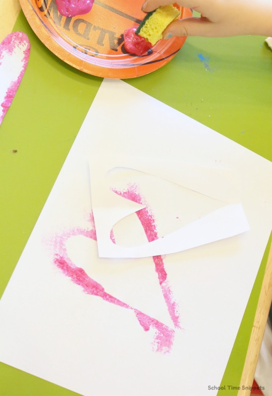 Valentine's Day Process Art Activity