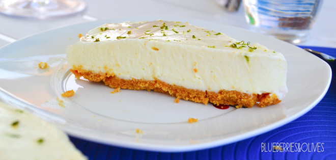 Piece of LIME AND GINGER CHEESECAKE