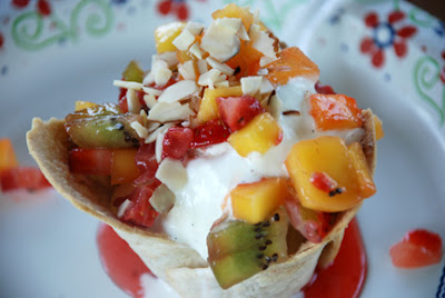 Mango Salsa sundaes Pampered Chef recipe