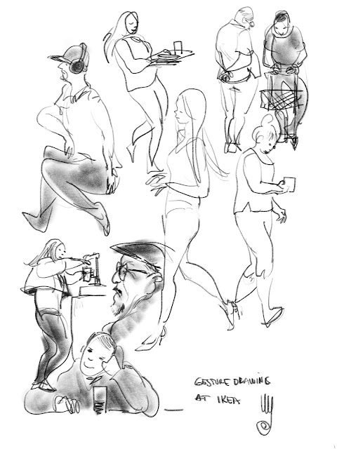 Gesture drawings by Ulf Artmagenta