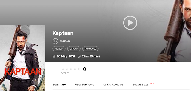 Kaptaan 2016 Full Punjabi Movie 700mb HD 300mb