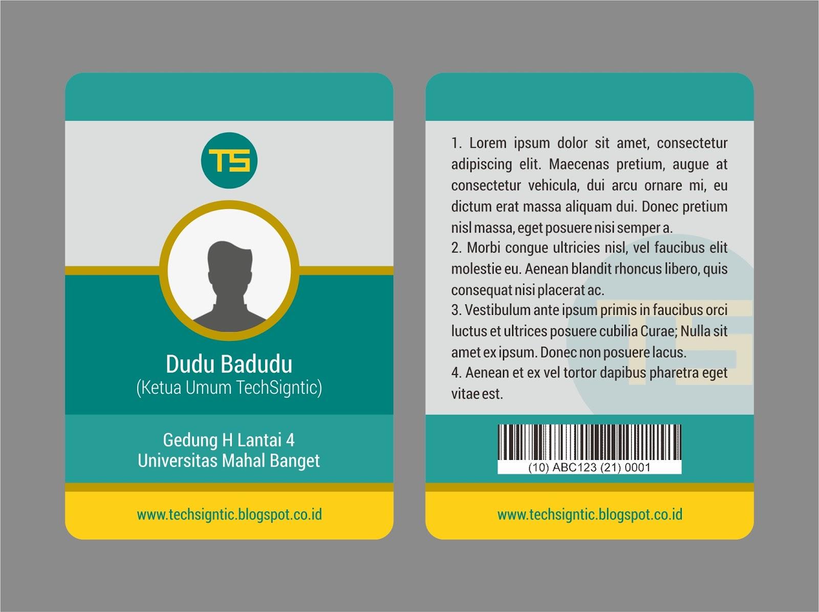 tutorial membuat id card modern
