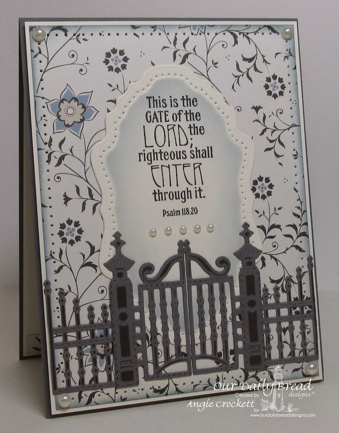ODBD The Gate, ODBD Custom Gilded Gate Dies, Card Designer Angie Crockett