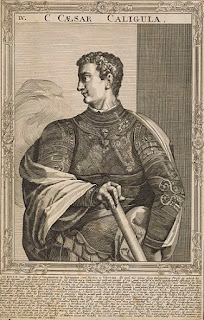 A line engraving depicting Caligula from the Wellcome Collection gallery