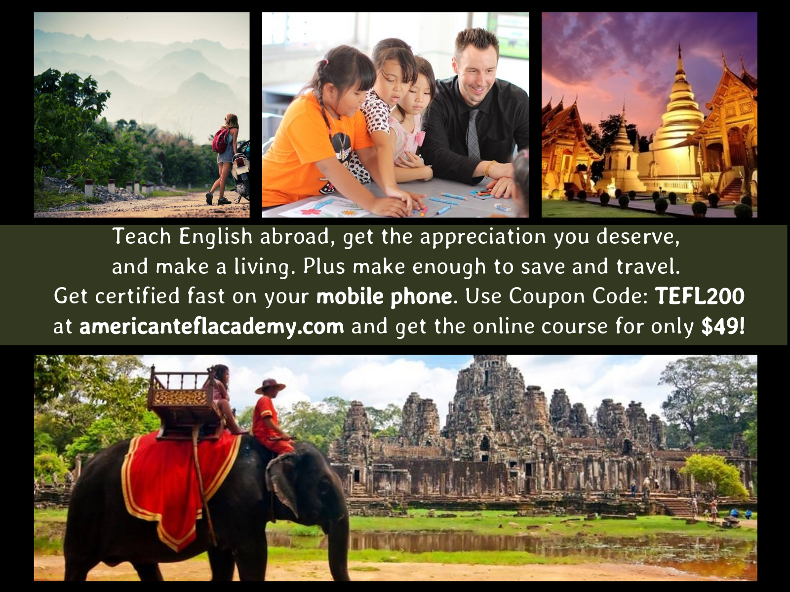 Udemy free coupon code discount coupons 120 hours tefl certification course get certified to teach english abroad fandeluxe Choice Image