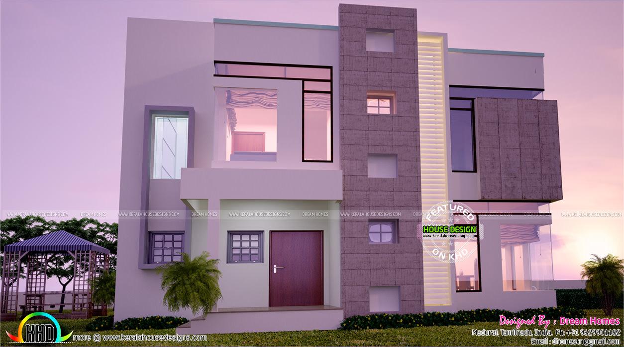Contemporary home : All side views - Kerala home design ...