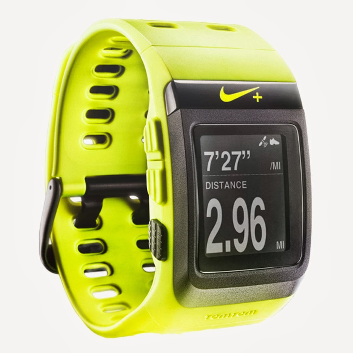 Nike+ SportWatch GPS Powered by TomTom, volt black color