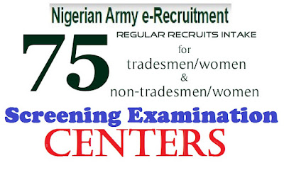 View where you will write your Nigerian Army screening Exam