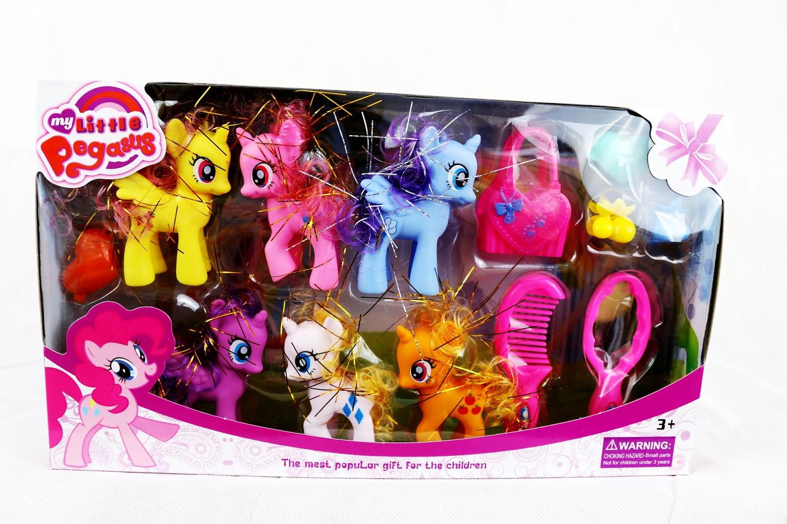Set of 5 My Little Pegasus Pony Playset Kids Birthday Gift for Xmas