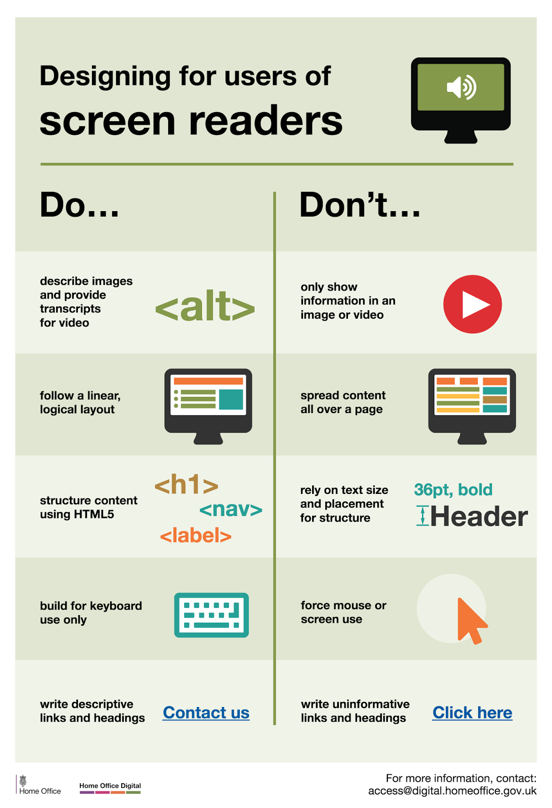 click for printable version of the screen e reader poster