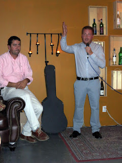 Fernando Pavon (left) and Winemaker Emilio Contreras