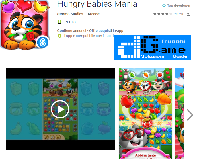Trucchi Hungry Babies Mania Mod Apk Android v2.2,1