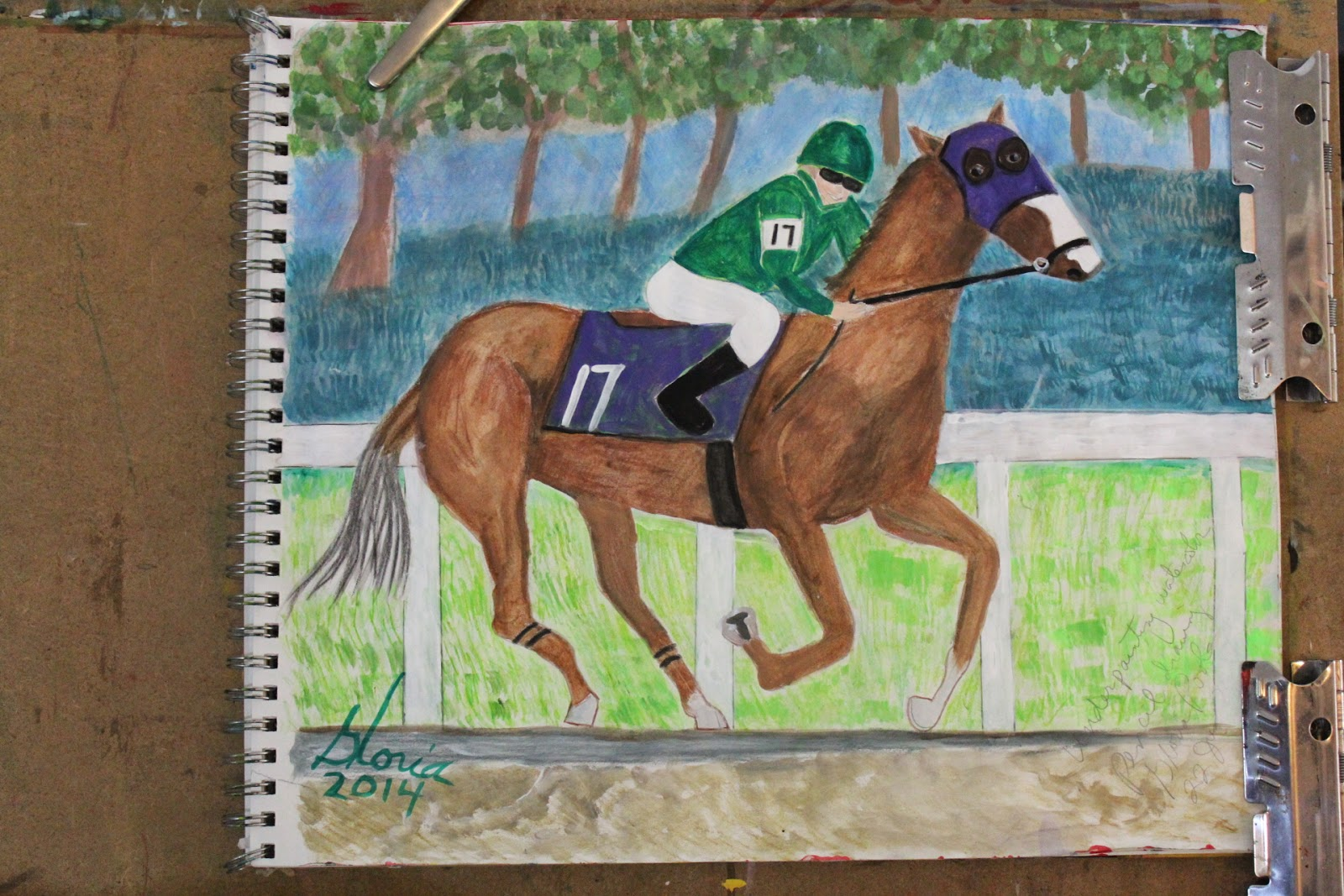 race-horse-sketch-by-gloriapoole-of_Missouri-23-June-2014