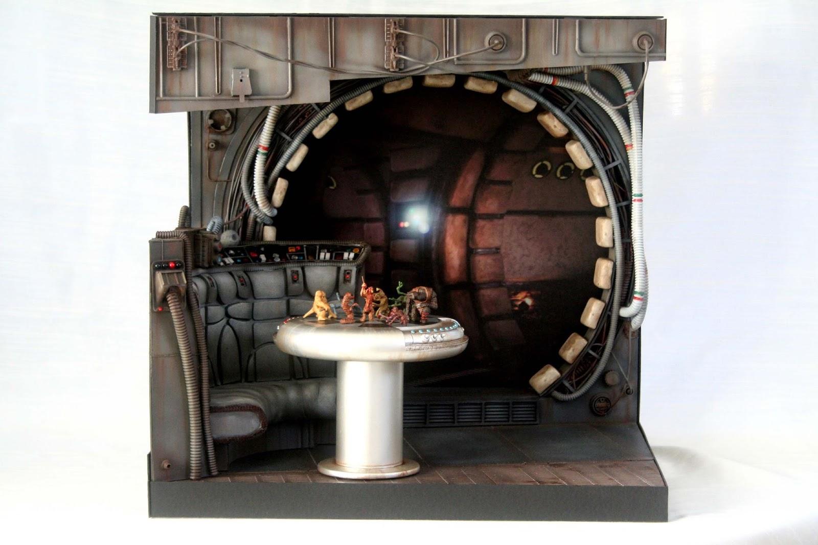 jhmodelator diorama interior halcon milenario star wars