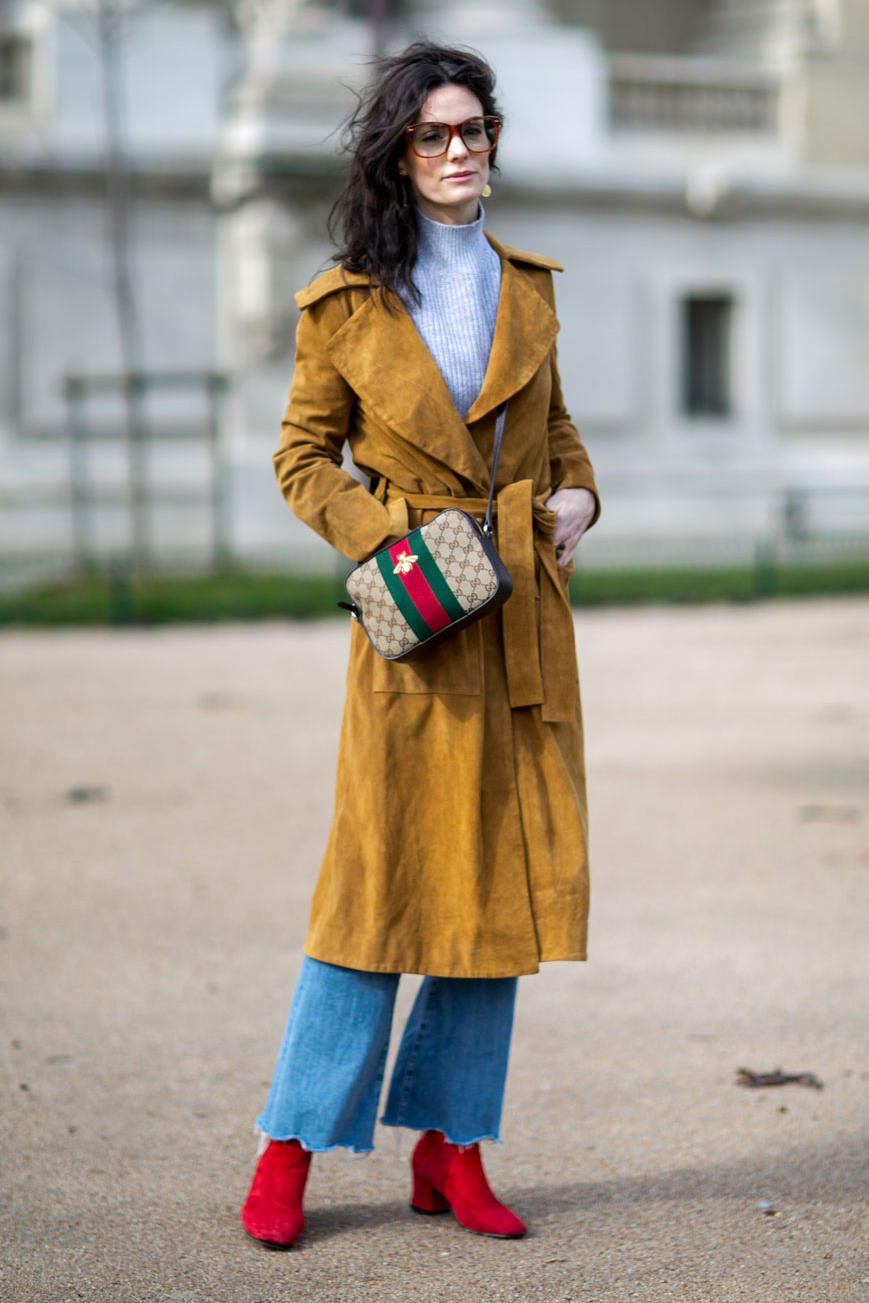 Hedvig Opshaug On the street at Paris Fashion Week. Photo: Emily Malan/Fashionista.