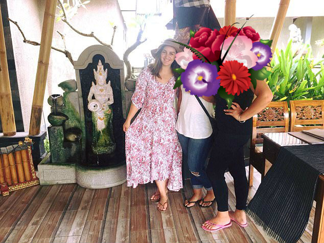 Mrs Baker was on holiday with dual other friends in Bali (pictured) to applaud her companion's 30th birthday