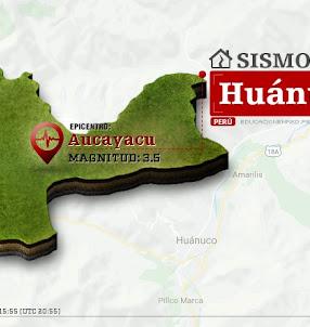 Temblor en Huánuco de 3.5 Grados (Hoy Miércoles 18 Octubre 2017) Sismo EPICENTRO Aucayacu - José Crespo y Castillo - Leoncio Prado - Tingo María - IGP - www.igp.gob.pe